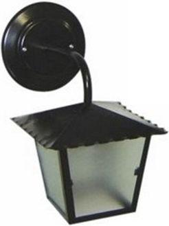Arandela modelo colonial fabricada em chapa de aço com soquete E27. Cores branca ou preta.