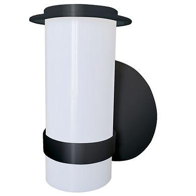 Luminária externa decorativa fabricada em plástico policarbonato, para lâmpadas led ou fluorescentes.