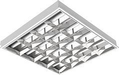 Luminária Retangular de Embutir com Aleta de Alumínio 2x T8 - Embutir 4x16