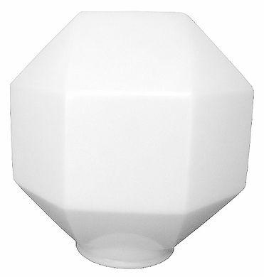 Globo de Plástico Prismático com Colarinho