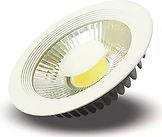 Iluminação Externa e Interna para Condomínios - Plafon redondo ou quadrado led cob de embutir
