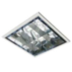 Plafon de embutir com refletor e aleta parabólica