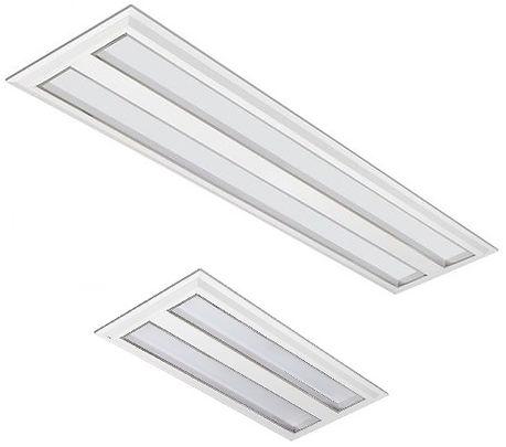 Luminária Retangular Embutir Barra Led 19w e39w Difusor Leitoso