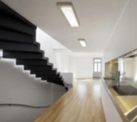 Luminária Sobrepor Retangular Led 300x1200 - Instalação em teto de sobrepor