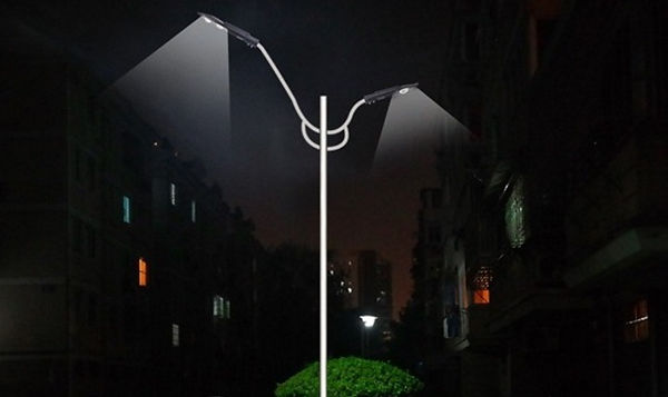 Luminária de Rua Led Cob 100w e 150w alumínio injetado - Foto Quadra Rua - Exemplo rua