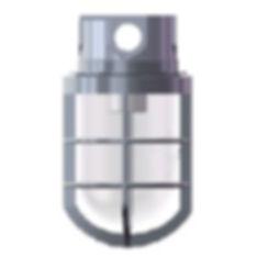 Plafonier industrial blindado fabricado em liga de alumínio fundido com proteção IP65