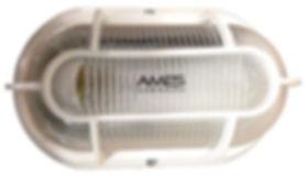 Luminária arandela fabricada em plástico policarbonato com soquete E27.