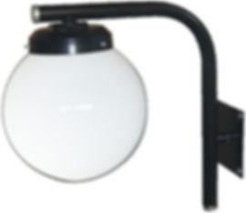 Arandela fabricada em tubo de aço para globo boca 15, soquete E27, nas cores branca ou preta.