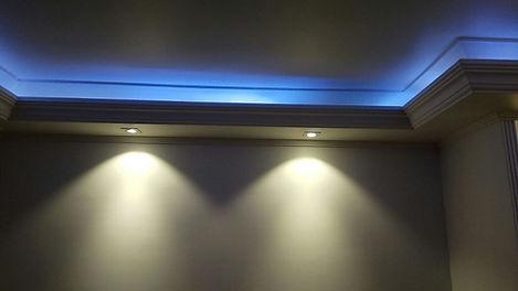 Luminária Led para Sanca e Forro de Gesso - Foto Embutido Led e Fita de Led