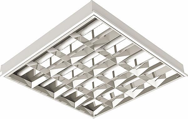 Luminária de Embutir Quadrada para 4 Lâmpadas Led T8 Aleta Alumínio
