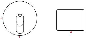 balizador de embutir, led, 3w, aluminio injetado, balizador de embutir, importado, parede, embutir, luminaria de embutir, na parede, em parede, luminaria de praça, luminária de corredor, balizador para escada, luminaria de escada, balizamento, led BQ, led