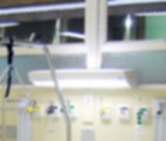 Luminária Leito Hospitalar 2x T8 com Botão