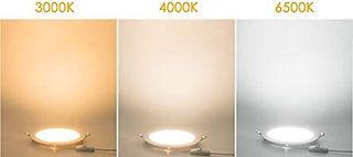 Luminária Plafon Led Embutir Redondo, 6w, 12w, 18w e 25w - 3000K, 4000K, 6500K