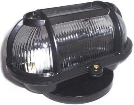 Arandela modelo tartaruga fabricada em alumínio fundido e difusor em vidro prismático. Soquete E-27. Cores branca ou preta