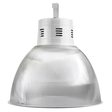 Luminária Pendente de Acrílico Prismático com Alojamento para reator. Ames Iluminação.