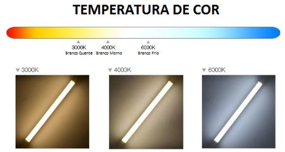Lâmpada Tubular T8 Led de 0,60cm ou 1,20cm - Ames Iluminação - Temperatura de Cor