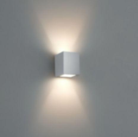 Arandela alumínio com facho direto e indireto, para lâmpada G9 halopin halógena ou Led