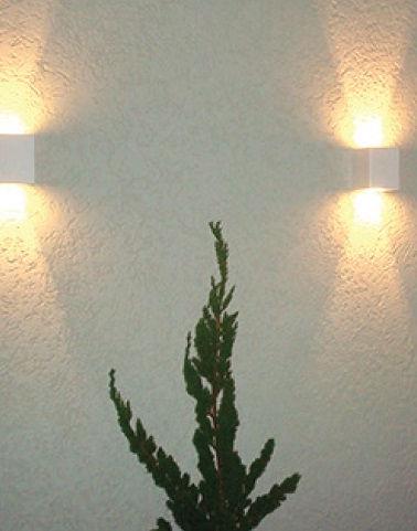 Arandela Paris Facho Indireto em Plástico - Decorativo na parede
