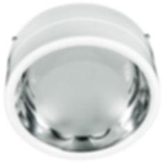 Luminária tipo plafon sobrepor fabricada em alumínio e refletor para lâmpadas E-27