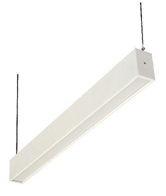 Pendente decorativo com difusor acrílico iluminação direta, para lâmpadas fluorescente tubulares.