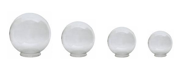 Globo de Vidro Transparente com Colarinho, 10x15, 10x20, 15x28 e 15x35, Modelos