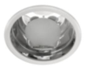 Plafon redondo de embutir, luminária circular para embutir no gesso com vidro recuado.