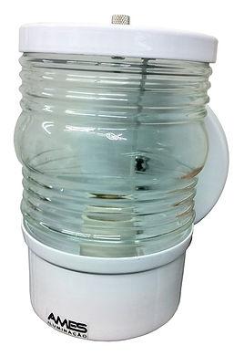 Luminária arandela modelo timoneiro fabricada em alumínio nas cores preta e branca. Soquete E27