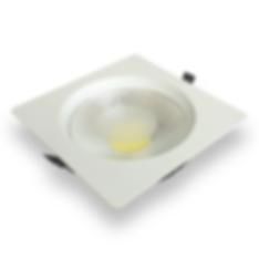 Luminaria quadrada de embutir com LED COB, alta eficiencia em lumens, 30W. Luminária led para embutir.
