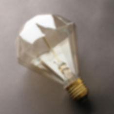 Lâmpada filamento de carbono D95 Diamante