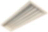 Luminária de embutir em forro de gesso. Corpo / refletor em chapa de aço tratada com acabamento em pintura eletrostática na cor branca. Difusor em vidro temperado. Modelo: 4x16W / 4x32W / 4x14W / 4x28W / 4x54W ou Tubular LED