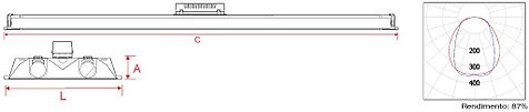luminaria comercial, luminaria 2x32, 2x16, refletor, anodizado, lampada led, tubular led, t8, luminaria fluorescente, refletor aluminio, aluminio anodizado,  embutir, forro gesso, forro modular, fabricante, distribuidor, luminaria, loja, escritorio, led