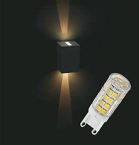 Lâmpada Led G9 Halopin Bipino 3w e 5w - Instalação em Arandela Decorativa