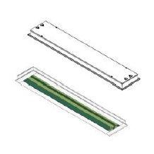 Luminária Embutir Sala Limpa para Lâmpada T8 - Manutenção por baixo ou manutenção por cima