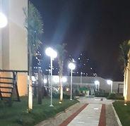 Luminária Led para Área Externa - Poste com Globo