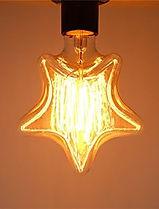 Lâmpada filamento de carbono Star - Estrela