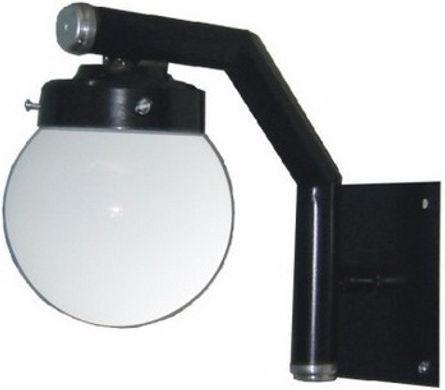 Arandela fabricada em tubo de aço para globo boca 10, soquete E27, nas cores branca ou preta.