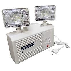 Luminária de emergência 30 leds - Modelo similar com dois (2) faróis de Led