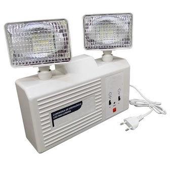 Luminária de Emergência com 2 Faróis de Led - Ames Iluminação