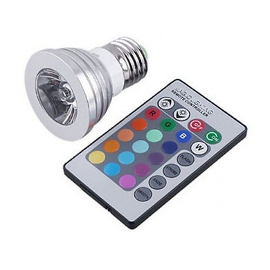 Lâmpada led PAR16 RGB soquete E27