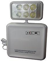 Luminária de emergência 30 leds - Modelo similar com 1 (um) farol de Led