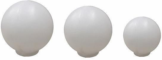 Globo de Plástico Leitoso com Colarinho, modelos 10x20, 15x30 e 15x42