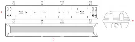 Luminária Hermética IP-65 - Ames Iluminação - Desenho