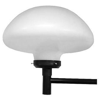 Globo de Plástico Cogumelo Boca 15 - Com base no poste / arandela