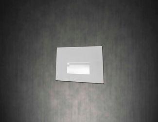Balizador Embutido de Parede para Lâmpada G9 - Instalado em parede clara