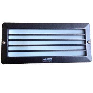 Balizador Retangular de Parede com Grade - Ames Iluminação