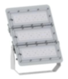 Refletor Led Profissional IP66 de Alto Fluxo Luminoso nas potências de 35w, 50w, 75w, 100w, 150w, 192w, 225w, 256w, 320w e 384w de 4.000lm até 42.000lm.