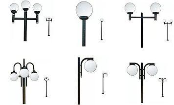 Fabricante e Distribuidor de Poste para Jardim - Poste Globo de Vidro ou Plástico