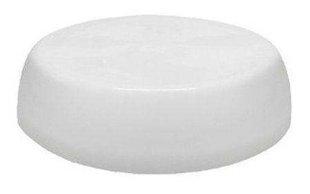 Plafon sobrepor redondo fabricado em policarbonato, modelo popular, para lâmpada fluorescente ou led.