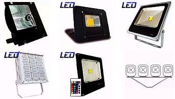 Iluminação para Estacionamento - Refletores, Projetores, Cruzetas e Postes.