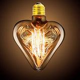 Lâmpada filamento de carbono Heart - Coração